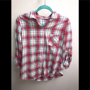 Victoria's Secret button down plaid shirt Small
